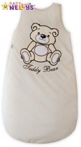 Spací vak Medvedík Teddy Baby Nellys - smotanový / ecru vel. 2