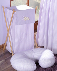Luxusný praktický kôš na bielizeň - SNÍLEK fialový
