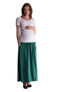 Be MaaMaa Maxi dlhá sukňa MAXINE - zelená
