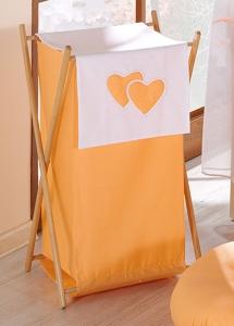 Mamo Tato Luxusný praktický kôš na bielizeň - Srdiečko pomaranč