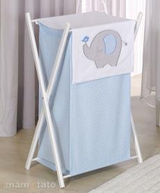 Mamo Tato Praktický kôš na bielizeň SLON - modrý