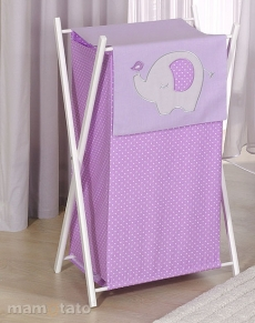 Mamo Tato Praktický kôš na bielizeň SLON - fialový