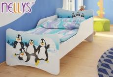 NELLYS Detská posteľ so zábranou Tučniaci - 180x80 cm