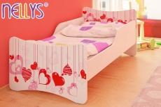 Detská posteľ so zábranou Srdiečka 160x80.