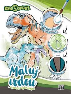 Omaľovánka A4 Maluj vodou Dinosaury