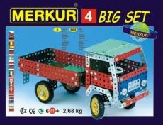 Stavebnica MERKUR 4 40 modelov 602ks 2 vrstvy v krabici 36x26,5x5,5cm