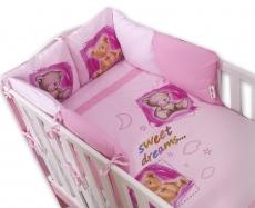 Obliečky s vankúšikovým mantinelom Sweet Dreams by TEDDY - růžový