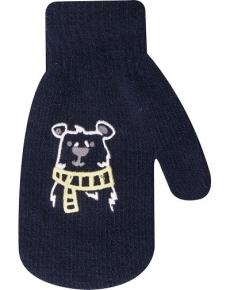 YO !  Dojčenské chlapčenské akrylové rukavičky YO - granátové