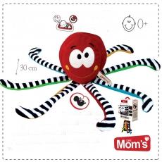 Edukačná hračka Hencz CHOBOTNIČKA s tlkotom srdca - červená