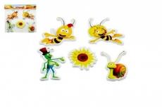 Teddies Penové dekorácie na stenu Včelka Mája Slnečnica 5ks v sáčku.