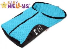 Fusak nielen do autosedačky Baby Nellys ® MINKY - modrý, tyrkys