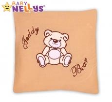 Baby Nellys Vankúšik 40x40 Teddy Bear - sv. hnedá