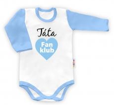 Baby Nellys Body dlhý rukáv vel. 86, Táta Fan klub Fan klub