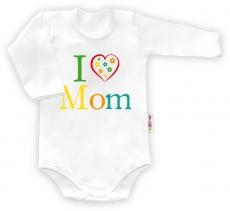 Baby Nellys Body dlhý rukáv vel. 68, I love Mom