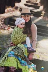 Little FROG Žakárová tkaná šatka na nosenie detí - LEMON HOURGLASSES f25d67ff28