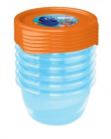 Súprava plastových škatuliek Hľadá sa Dory  0,2l - 6 ks