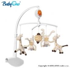 BabyOno Kolotoč nad postieľku - Žirafky a opičky