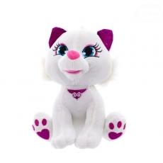 Euro Baby Plyšová mačička 24cm - biela, Ce19