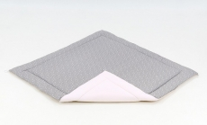 Mamo Tato Hracia, prebaľovacia podložka 120x120cm - sivá/mini hviezdičky biele-béžová