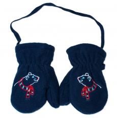 YO !  Zimné dojčenské polarové rukavice YO - granátové