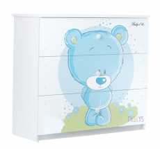BabyBoo Detská komoda - Medvedík STYDLÍN modrý, D19