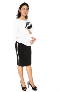 Be MaaMaa Tehotenská sukňa ELLY - športová - čierna - S