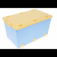 Detský úložný box na kolieskach - modrý