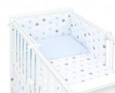 Mamo Tato 3-dielny set do postieľky s mantinelom - Hviezdy modré, sv. modrá