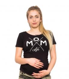 Be MaaMaa Tehotenské triko - Mom Live - čierna, vel. XL