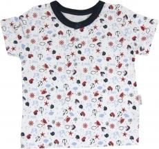 Bavlnené Polo tričko Parník - krátky rukáv, 80