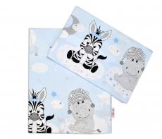 Baby Nellys 2-dielne bavlnené obliečky Safari Baby - sv. modrá
