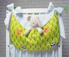 Baby Nellys Vreckár nielen na hračky, Lesík zelený