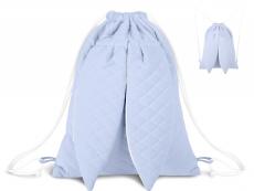 Miminu Štýlový detský batôžtek Velvet lux mimino prešívaný - modrý