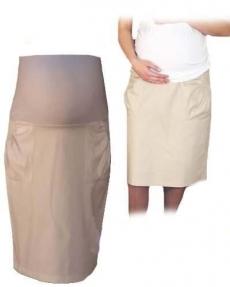 Be MaaMaa Tehotenská športová sukňa s vreckami - béžová