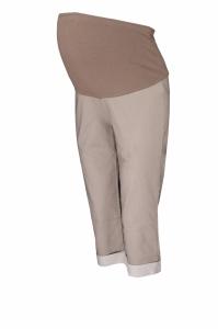 Be MaaMaa Tehotenské 3/4 nohavice s elastickým pásom - béžová, vel´. L