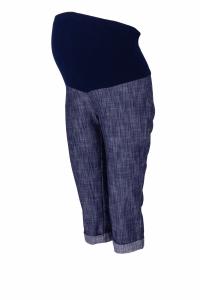 Be MaaMaa Tehotenské 3/4 nohavice s elastickým pásom - granat/melírované, vel´. XL