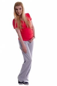 Tehotenské tepláky - sivý melír, vel´. XXL