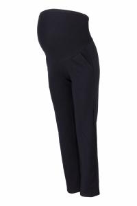 Be MaaMaa Tehotenské nohavice s elastickým pásom, s vreckami - čierne, vel´. XL