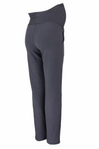 Be MaaMaa Tehotenské nohavice s elastickým pásom, s vreckami - grafit, vel´. L