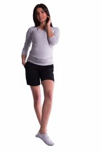 Tehotenské kraťasy s elastickým pásom - čierné, vel´. M