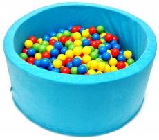 NELLYS Bazén pre deti 90x40cm kruhový tvar + 200 balónikov - tyrkys, Ce19