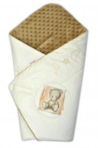 Baby Nellys Zavinovačka, 75x75cm, bavlnená s Minky by Teddy - piesková, sv. hnedá