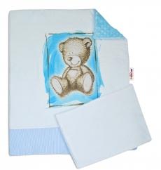 Baby Nellys 2-dielna sada do kočíka s Minky by Teddy - sv. modrá, sv. modrá