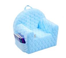 Albero Mio Detské kresielko / pohovečka Velvet - sv. modré