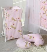 Dojčiace vankúš - Žirafky ružové