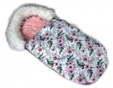 Baby Nellys Fusak, spacáček 105x55 Velvet Winter Lux - Flowers