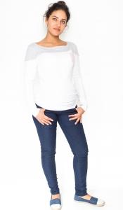 Be MaaMaa Tehotenské nohavice / jeans Rosa - granátové, veľ. L