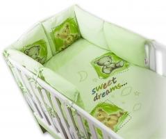 Obliečky s vankúšikovým mantinelom Sweet Dreams by TEDDY - zelený