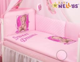 Mantinel 360 cm s obliečkami Sweet Dreams by Teddy - růžový