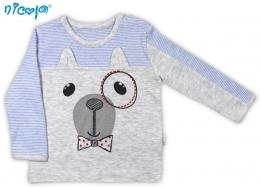 Bavlnené tričko Psík - dlhý rukáv 1baa04e255